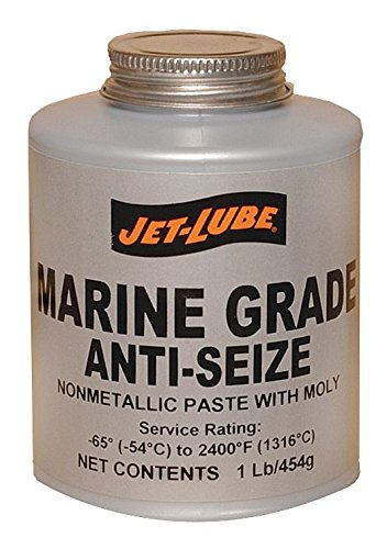 Jet-Lube Marine Grade Anti-Seize, 1/2 lbs Brush Top Can