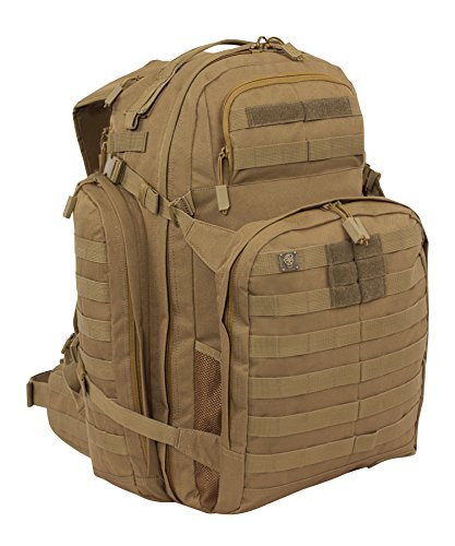 SOG Barrage Tactical Internal Frame Backpack, 64.3-Liter Storage, Clay