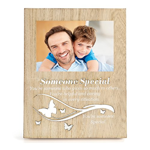 OUCHAN 4x6 Picture Frames Light Up Photo Frame with Carved Wording - Someone Special by OUCHAN