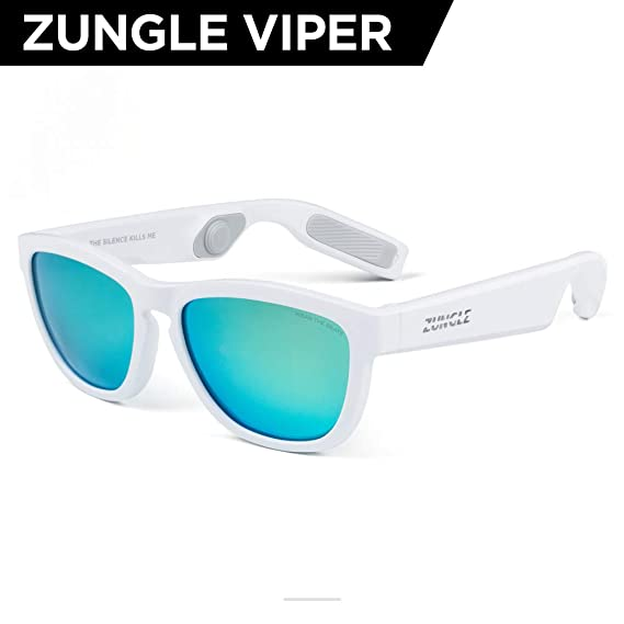 074fd32863b ZUNGLE V2 Viper  Bluetooth Audio Sunglasses with Over Ear True Wireless  Bone Conduction Headphones.