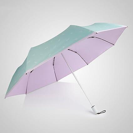Paraguas plegable Parasol Protección UV Protector solar Parasol ligero plegable Para uso doble (Color :