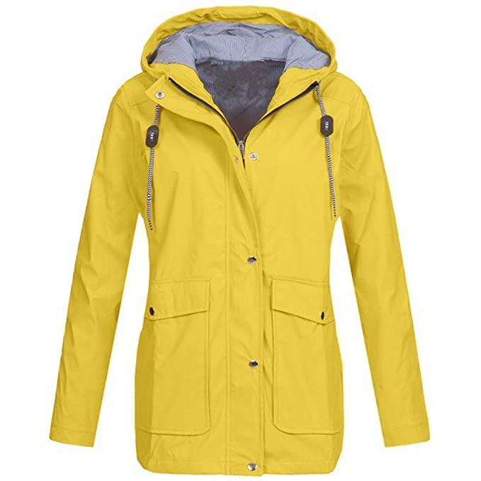 STRIR Chaqueta Impermeable Mujer con Capucha Ajustable ...