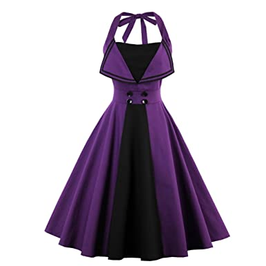 Summer Dress 50s Style Halter Vintage For Women Plus Size Party Feminino Rockabilly Vestidos Robe Limited