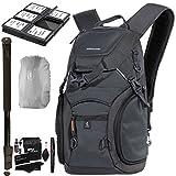 VANGUARD ADAPTOR 41 Camera Daypack, Rain Bag Cover, SD/SDHC Memory Card Hard Plastic Case, Ritz Gear Cleaning Kit, 72'' Heavy Duty Monopod