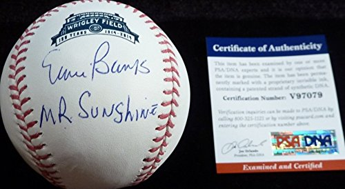Psa Dna Ernie Banks Mr Sunshine Autographed Signed Wrigley Field 100Th Year Baseball 79