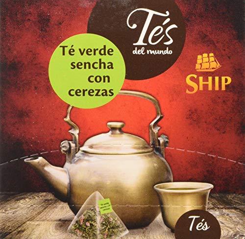 Ship con 15 Piramides TE VERDE SENCHA con CEREZAS TES del MUNDO