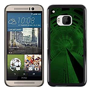 Be Good Phone Accessory // Dura Cáscara cubierta Protectora Caso Carcasa Funda de Protección para HTC One M9 // Green Space Tunnel