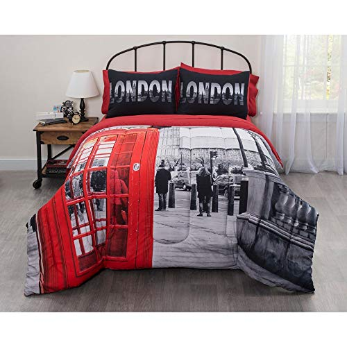 Casa London Big Ben Photo Booth Londen Bed in A Bag, Twin XL ()