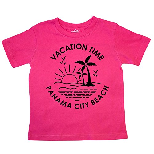 inktastic Vacation Time in Panama City Beach Toddler T-Shirt 5/6T Hot Pink