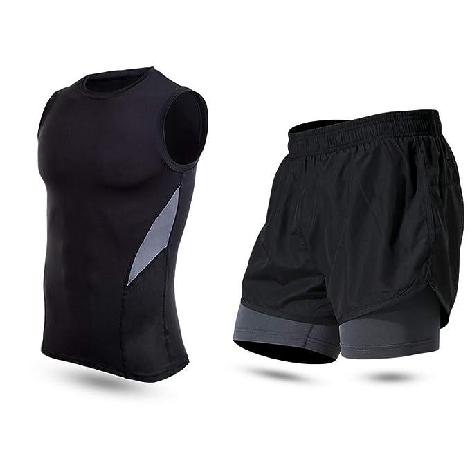 FRAUIT Traje de Fitness para Hombre Camiseta de MusculacióN ...