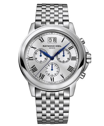 Raymond Weil Men's 4476-ST-00650 Tradition Silver-Tone Stainless Steel Watch