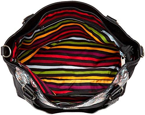 Little Marcel Ol01 - Shoppers y bolsos de hombro Mujer Negro (Triangle)