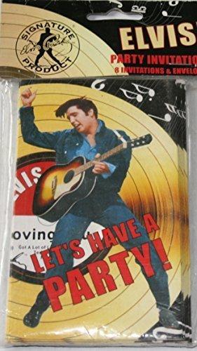 Amazon Com Elvis Presley Party Invitations 8 Count Toys Games