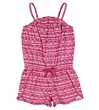 Nautica Toddler Girls' Fashion Romper, Dark Pink Pom Pom, 3T