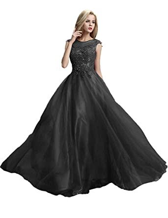 Beauty-Emily Pearl Maxi A-Line Lace Up Sleeveless Long See-Through Embridery
