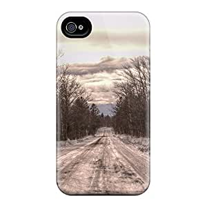 High Quality Dsorothymkuz Snow Road Skin Case Cover Specially Designed For Iphone - 4/4s