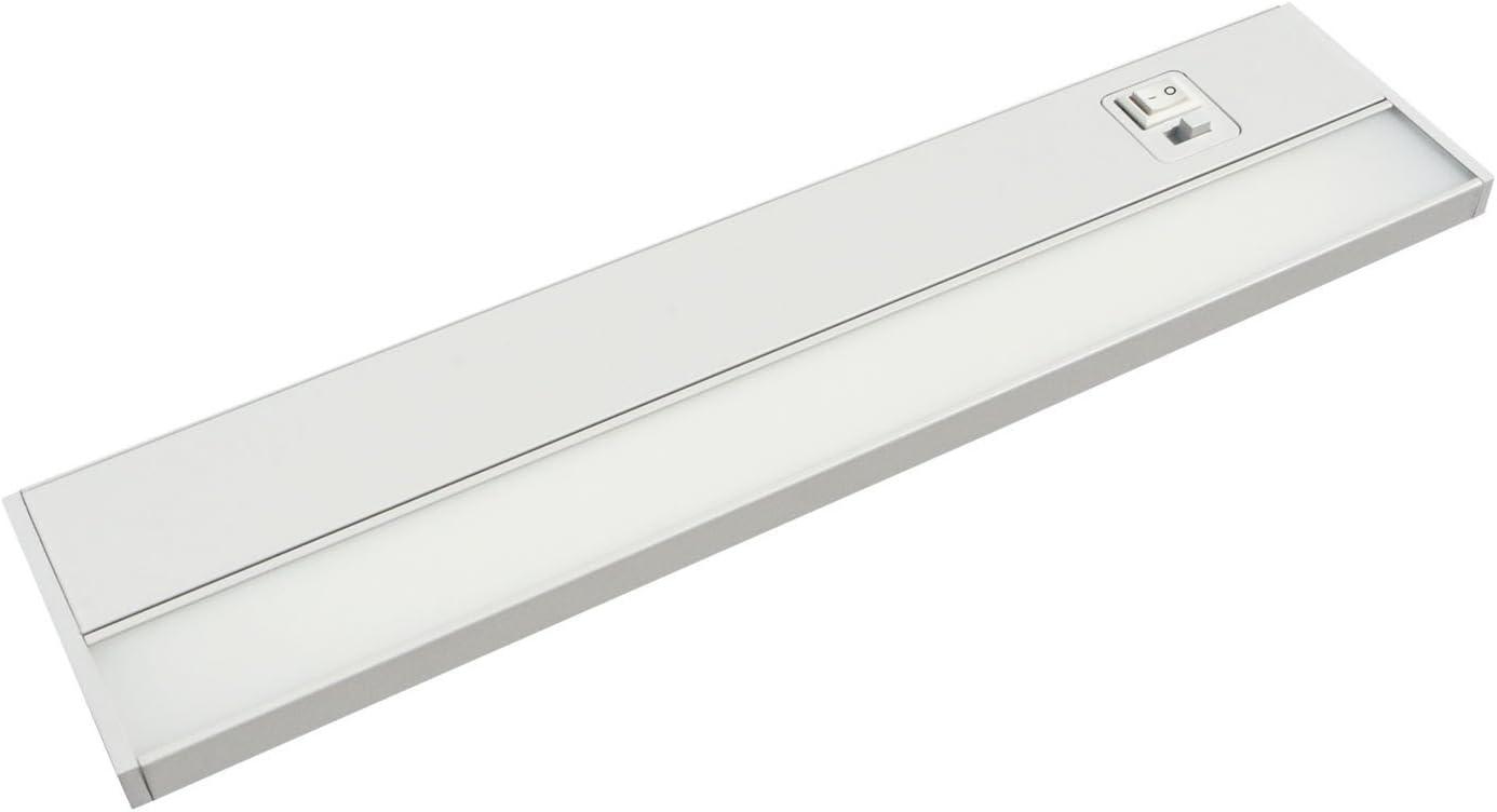 JULLISON 24 Inch LED Under Cabinet Light, Under Counter Light, Plug-in or Hardwired, 120VAC, 14W, CRI90, 1050 Lumens, 3 Colors Changing, 2700K-3000K-4000K, Linkable, ETL Listed, Damp Location – White