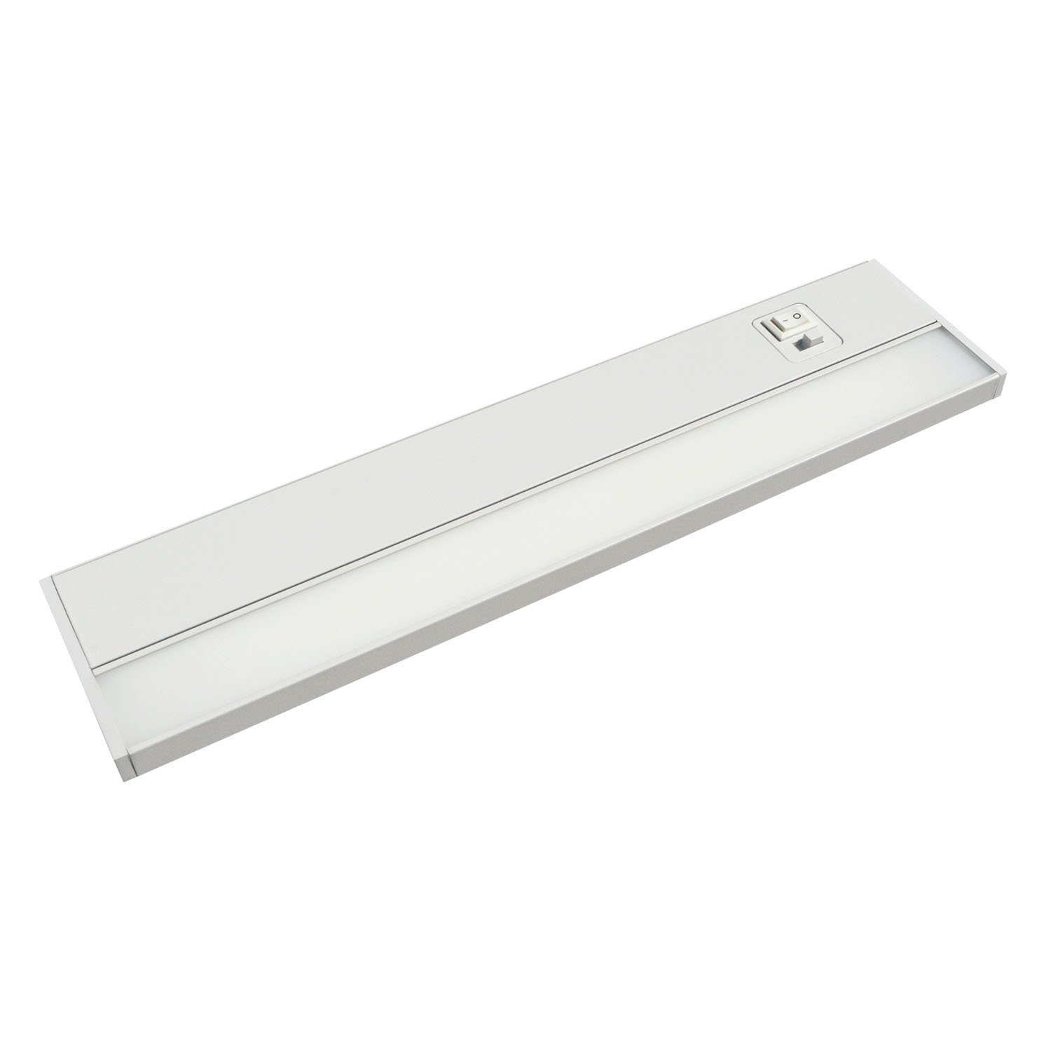 JULLISON 24 Inch LED Under Cabinet Light, Under Counter Light, Plug-in or Hardwired, 120VAC, 14W, CRI90, 1050 Lumens, 3 Colors Changing, 2700K-3000K-4000K, Linkable, ETL Listed, Damp Location - White