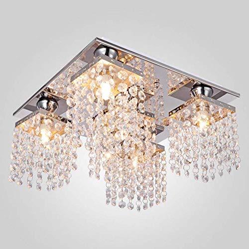 5 têtes lustre plafonnier contemporain cristal élégant pendentif lumière décoration de la maison lampe moderne luminaire (couleur  argent et clair)