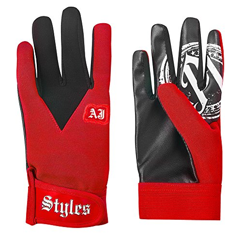 Aj Styles P1 Logo Pro Wrestling Fight Gloves  One Size  Red