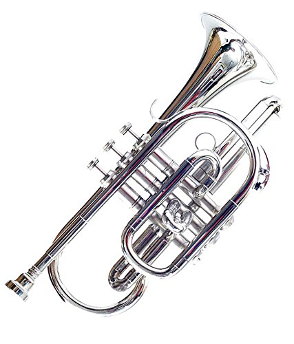 Cornet B Flat Nickel Plated With M/P & Bag Free by Chopra (Image #1)