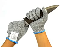UncleHu Cut Resistant Gloves - High Performance Food Grade Level 5 Protection - Lightweight, Breathable, Comfortable - Kitchen Cooking Cutting Slicing Carving Mandolin Proof, Safety for Chef