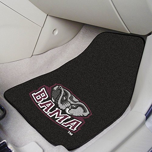 (FANMATS NCAA University of Alabama Crimson Tide Nylon Face Carpet Car Mat)