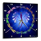 3dRose dpp_50288_1 Dragonfly Dance-Wall Clock, 10 by 10-Inch For Sale