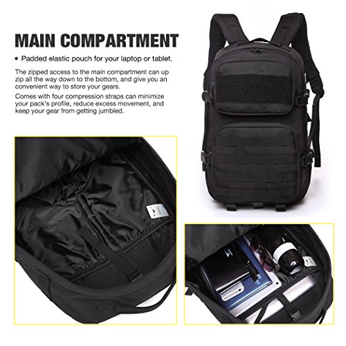 Mardingtop Military Tactical Backpack Large Army 3 Day Assault - Import It  All fd05adb516fb1
