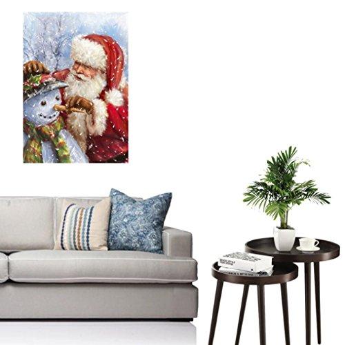 Woaills Christmas Cross Stitch Home Decor,5D Diamond Rhinestone Painting Embroidery Plane Wall Sticker (C)
