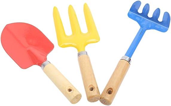 Baluue Herramientas de Jardinería para Niños Juegos de Herramientas para Plantas de Jardín para Niños Incluye Pala Rastrillo Y Llana 3 Piezas: Amazon.es: Bricolaje y herramientas