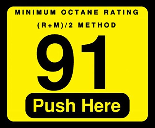 091-129999 - 91 Push Here Octane Decal