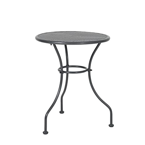 greemotion Table de jardin ronde Vienna – Table ronde diamètre 60 cm –  Table de jardin métal grise – Petite table ronde de jardin – Table  d\'appoint ...