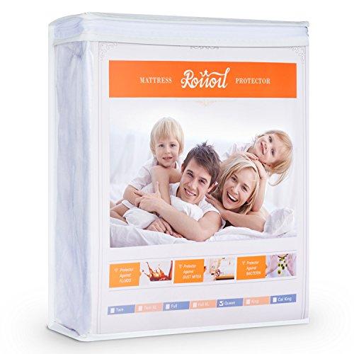 Roiiou Queen Size Premium Hypoallergenic Waterproof Mattress Protector Only $15.39