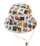 Toyobuy Baby Kids Cotton Animal Pattern Sunhat With Chin Strap Size 46
