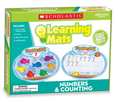 Scholastic Teacher's Friend Numbers & Counting Learning Mats, Multiple Colors (TF7102)