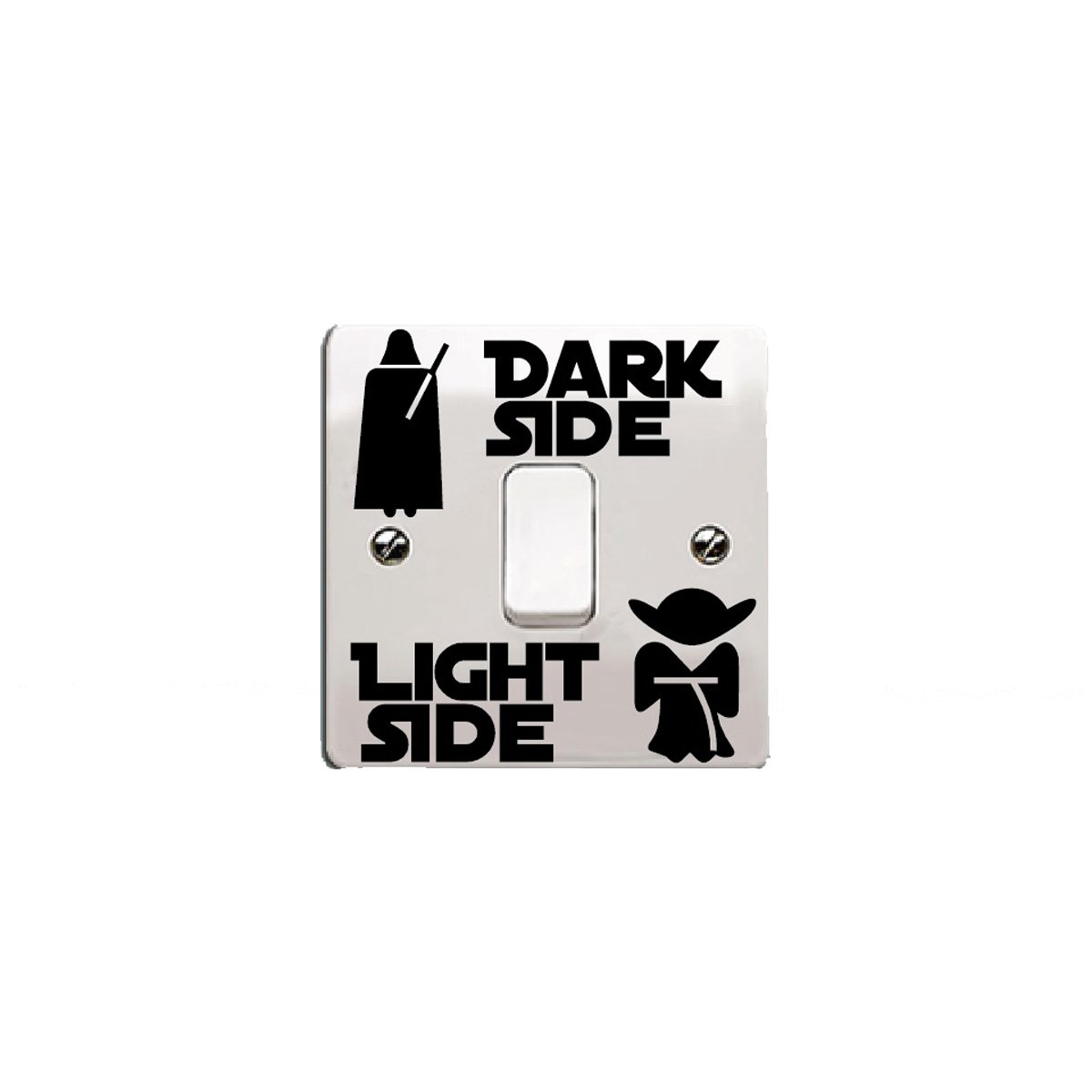 'Star Wars de vinilo etiqueta/Calcomanía Dark Side – Light Side para interruptor de luz Rosa Talla:Style 1 .