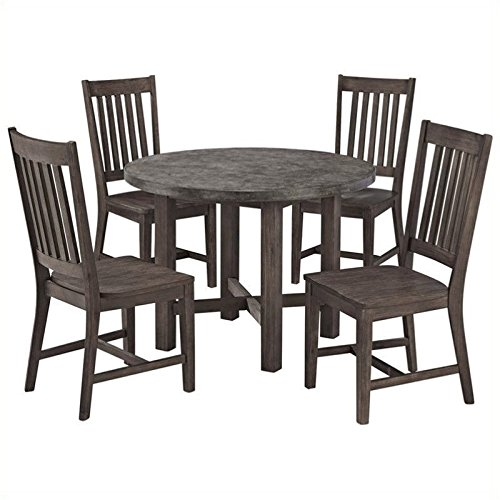 Bowery Hill 5 Piece Dining Set in Brown and Gray