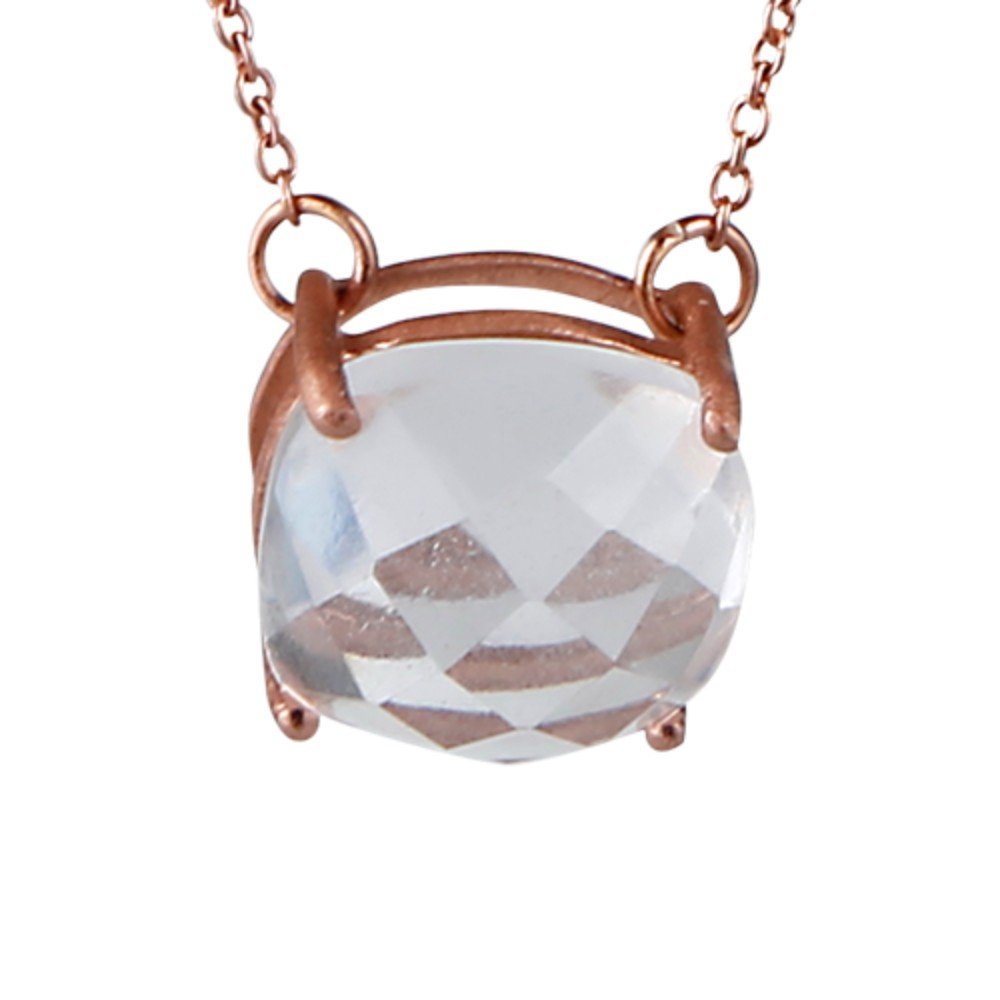 Nathis Very Beautiful Necklace in Elegant White Topaz Gemstone