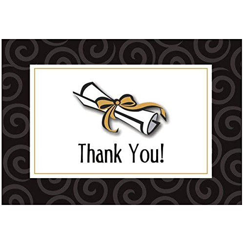 Graduation Thank You Cards (Graduation Day Folded Party Thank You Cards with Add-On, 3