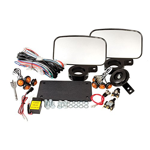 Tusk UTV Street Legal Kit- Lights, Horn, Turn Signals, Mirrors, License Plate - POLARIS RZR 570 - Kit Signal Turn Mirror
