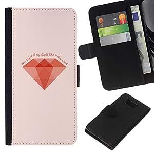 All Phone Most Case / Oferta Especial Cáscara Funda de cuero Monedero Cubierta de proteccion Caso / Wallet Case for Samsung ALPHA G850 // MINIMALIST DIAMOND