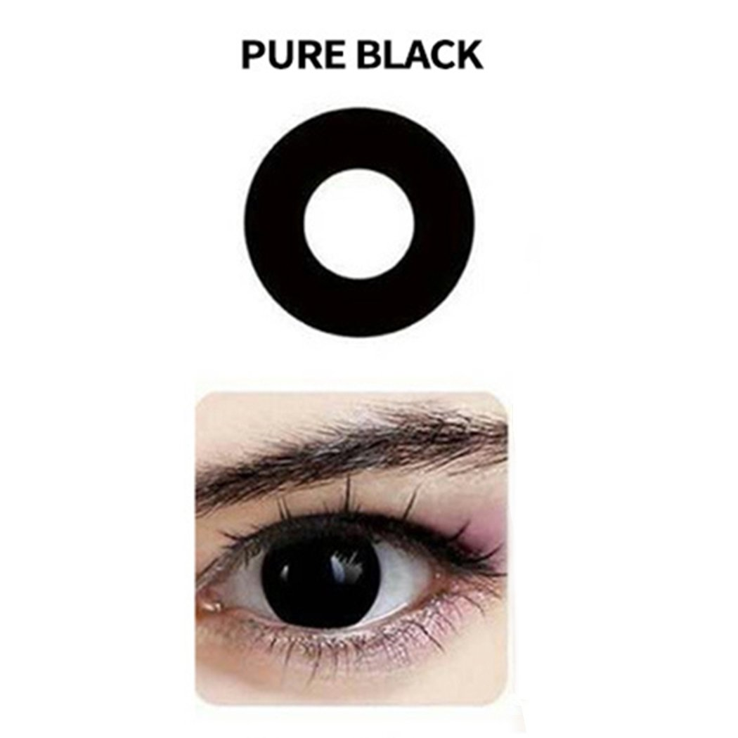 Women Blends Cosplay Eyes Materials Multicolor Cute Charm and Attractive Fashion Contact Lenses Cosmetic Makeup Eye Shadow (Black)