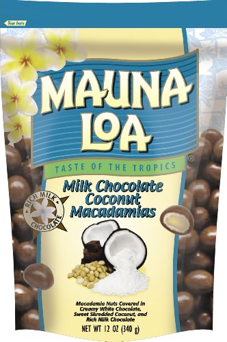 Mauna Loa Milk Chocolate Coconut Macadamia Nuts Bag, 11 ...