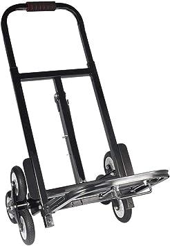 Carretilla para escaleras, plegable, carro de la compra, carro de mano, carretilla para escalada, hasta 200 kg, plegable, 6 ruedas, color negro: Amazon.es: Bricolaje y herramientas