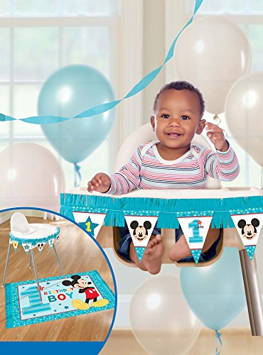 amscan 1st Birthday Mickey Mouse High Chair Decorating Kit Party Supplies Mickey Fun to be One!