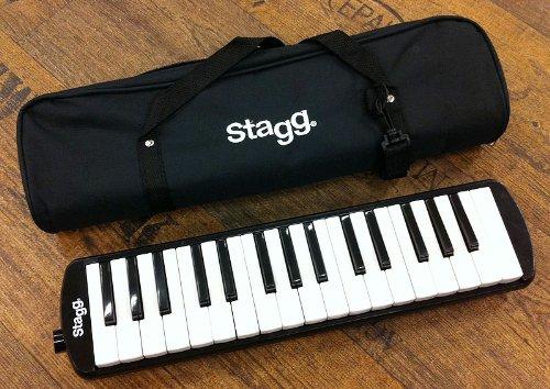Stagg MELOSTA32 BK Reed Keyboard (32-Key) mit Tasche schwarz
