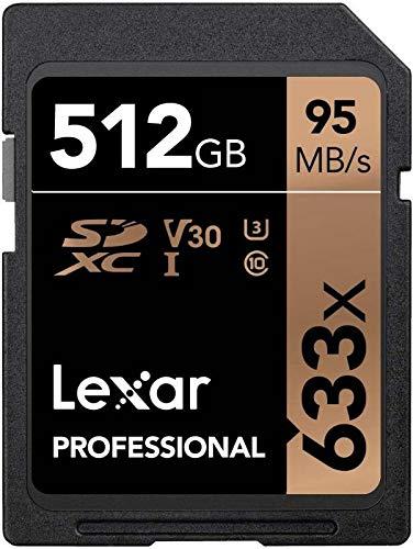 2 Pack Lexar 512GB SDXC Professional 633x UHS-1 U3 SD XC Memory Card LSD512CBAP633 LOT of 2 with MemoryMarket USB 3.0 Dual Slot Card Reader