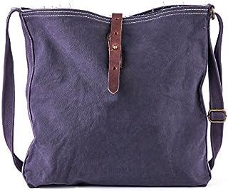 Gootium 60302 Unisex Vintage Canvas Shoulder Bag Shoulder Bag, 40 cm, Coffee/Gray
