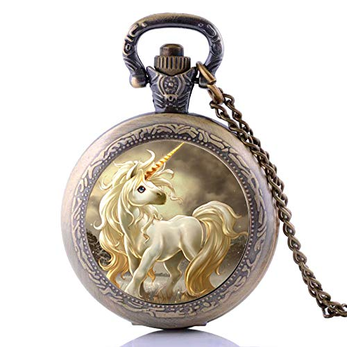 Antique Steampunk Cute Horse Quartz Pocket Watch Analog, used for sale  Delivered anywhere in USA